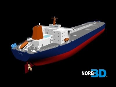 3d oil tanker ship