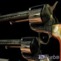 M1873 Single Action Army Revolver LOW POLY