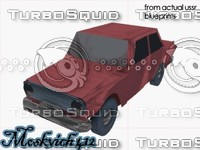 3d car vehicle moskvich