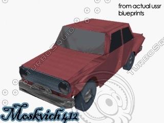 3d car vehicle moskvich