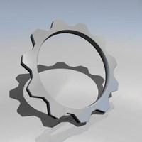 3d dxf cog wheel