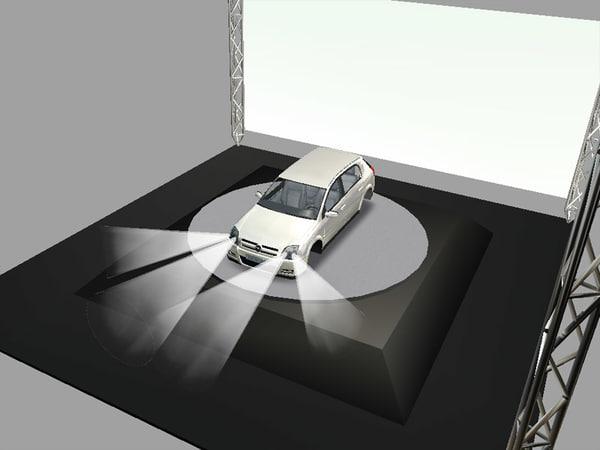 free car body opel signum 3d model
