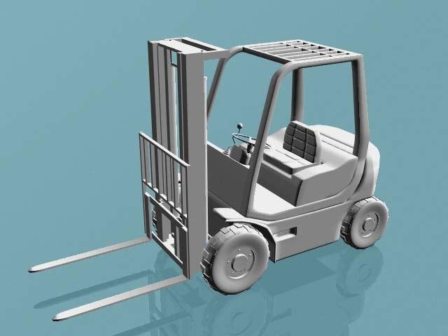 forklift industrial 3d model