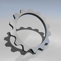 3d model cog wheel