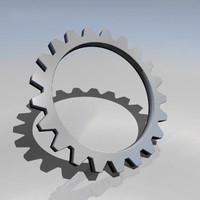cog wheel 3d obj