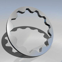 3ds max cog wheel