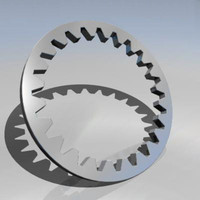 gear wheel cog 3d obj