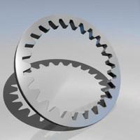 3dsmax gear wheel cog