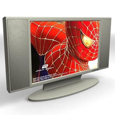 lcd tv 27 inch 3d model