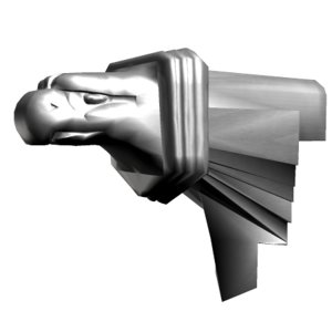 gargoyle eagle head 3d model