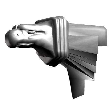 gargoyle eagle head 3d model