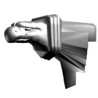 eagle head gargoyle 3d model