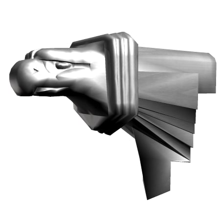 eagle head gargoyle 3d model