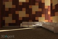 sofa vignette 3d max