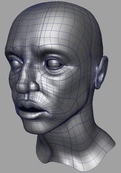 3d model nurb head