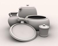 3d 3ds kitchen pottery