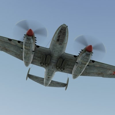 3d model bomber pe-2 war 2