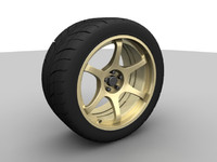 performance sport rim 3d obj