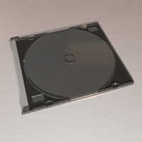 slim cd-rom case obj