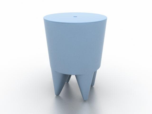 3dsmax bubu stool starck