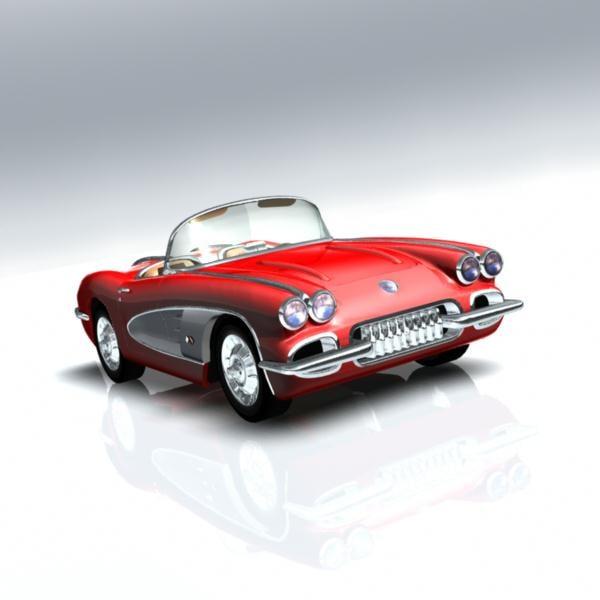 chevrolet corvette car 3d model