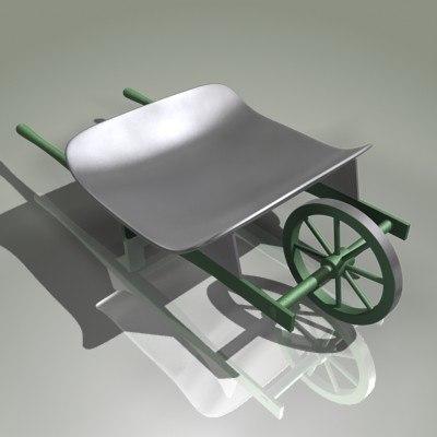 free garden hand cart 3d model