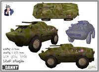 3d brdm model