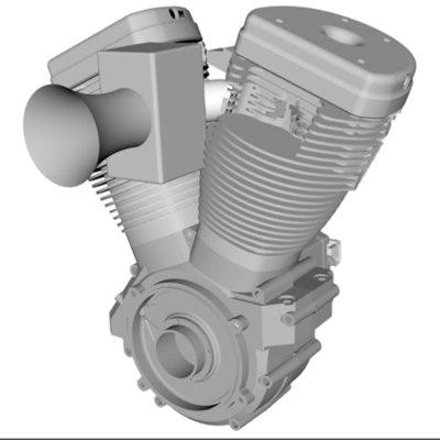 harley davidson indian engine 3d model