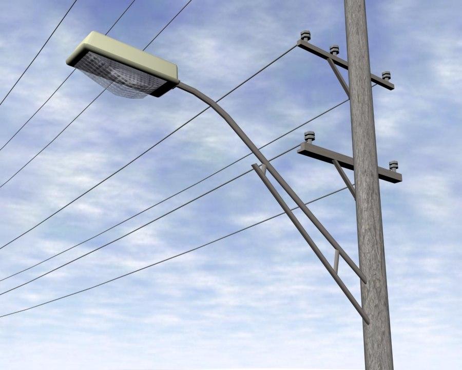 telegraph poles 3d model