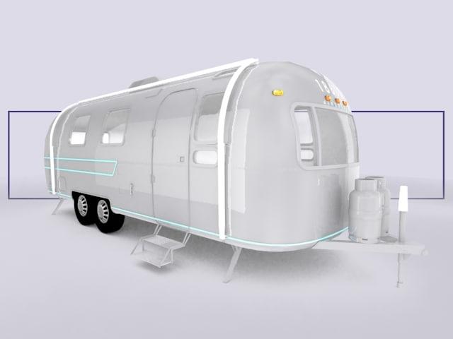 airstream trailer 3d model