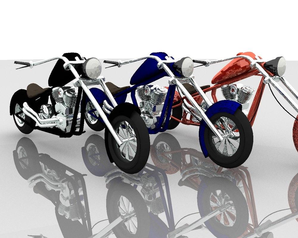3d motor bike model