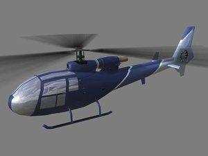 3d gazelle helicopter model
