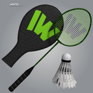 racket badminton 3d model