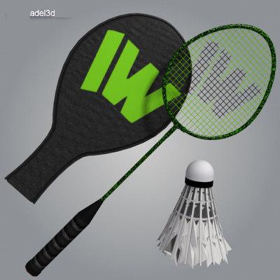 racket badminton 3d model
