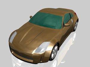 nissan sport car 3d model