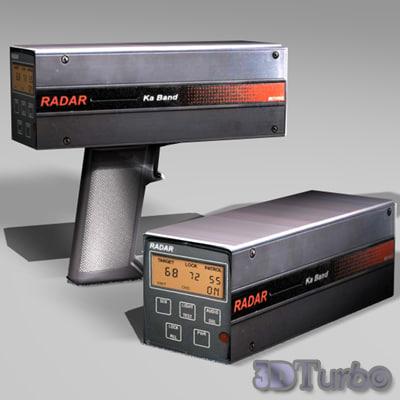 police radar gun 3d model