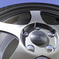 3d alloy wheel goodyear tire rim model