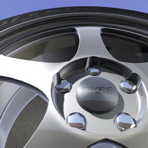 3d alloy wheel goodyear tire rim model