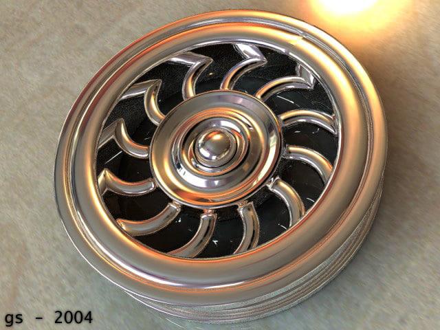 necksmasher car wheel 3d 3ds