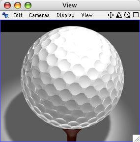 3d golfball2 x ball model