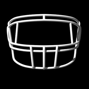 facemasks football helmet 3d model