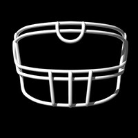 3d model facemasks football helmet