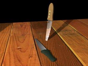 knives knife 3d max