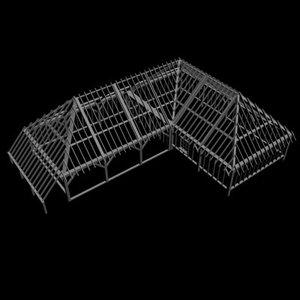 3d building framework model