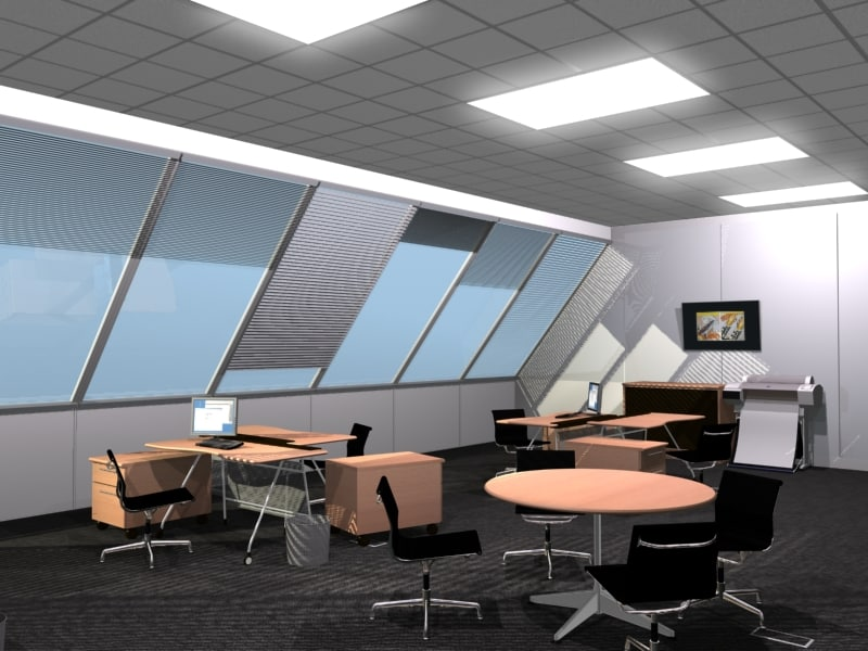 generic office room 3d max