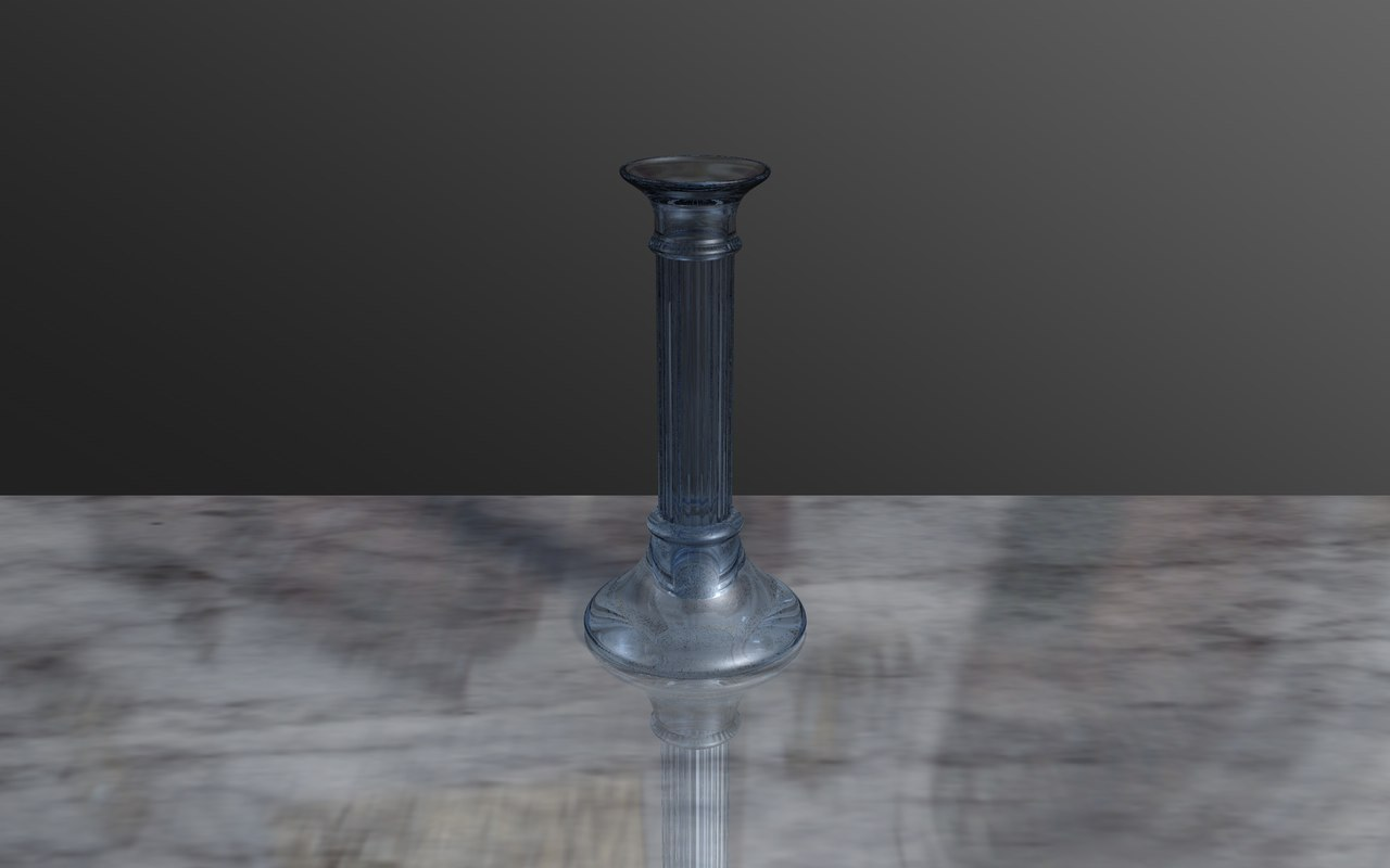 3d glass candlestick model