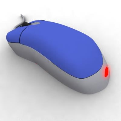 optical mouse 3d model