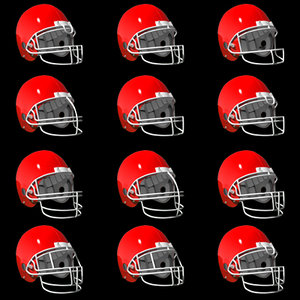 football helmet facemasks 3d model