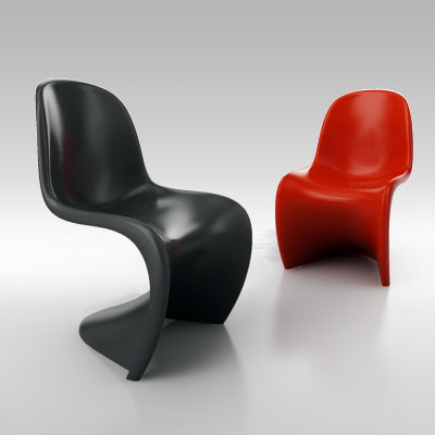 chair verner panton 3d model
