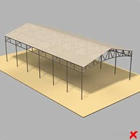 3d model of shed barn